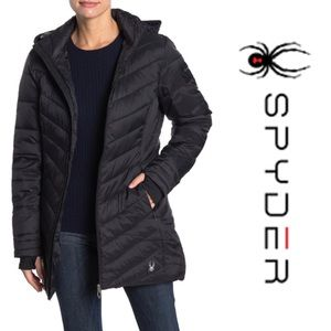 NWT SPYDER Boundless Quilted Long Jacket